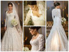 Vestido de noiva por Sandro Barros - Casamento clássico