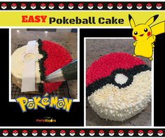Our friend Emma was turning 8 and wanted a Pokemon cake. I am very familiar with Pokemon from my son. I knew right away I would make a Pokeball. This would be an easy design and would look good. I…
