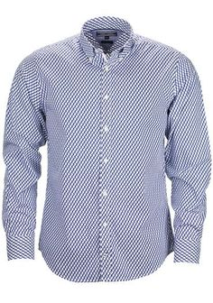 Tommy Hilfiger Mens Erol Print Shirt, Navy and White available to purchase online at www.mcelhinneys.com
