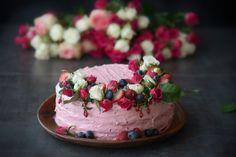 Raspberry Garden Cake by TasteHabit.com