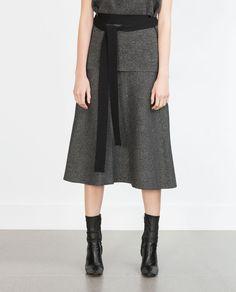Image 3 de JUPE LONGUE TRAPÈZE de Zara