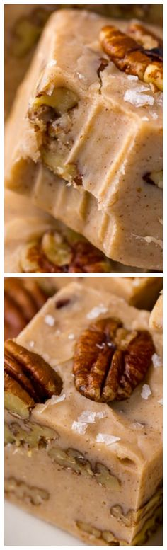 6-Ingredient Butter Pecan Fudge ~ Perfect for cookie trays and homemade holiday gifts!