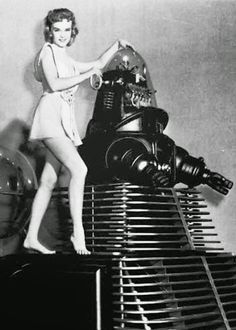 """Futuristic Ladies – Promotional Shots for the """"Forbidden Planet"""" (1956)"""