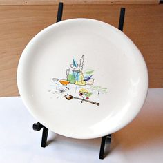 Brock of California Lunch Plate by SageGoods on Etsy, $35.00