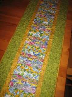Quilted Table Runner Spring Flower Garden by TahoeQuilts on Etsy, $39.00