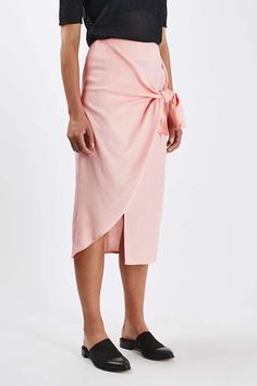 Jacquard Tie Front Skirt by Boutique - Topshop