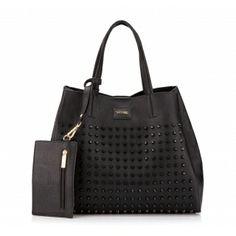 Torebka WITTCHEN Young shopper bag z czarnymi nitami 78-4Y-805-1 wiosna/lato 2014 black rivets