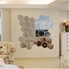 This Hexagon mirror tiles w hexagonal f elegant quintessence silver mirrored bevelled wall photos and collection about 50 hexagon mirror tiles excellent. Hexagonal mirror tiles hexagon ikea copper wall Floor images that are related to it Wall Stickers Geometric, 3d Mirror Wall Stickers, Removable Wall Stickers, Wall Stickers Home, Wall Stickers Murals, Wall Decal Sticker, Wall Murals, Wall Art Decor, Sticker Ideas