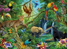 Buy Ravensburger - Animals in the Jungle Puzzle - 200pc - Arwen