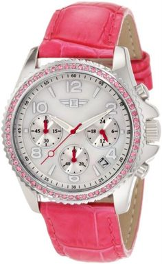 Invicta Women's IBI-10064-001 Chronograph Mother-Of-Pearl Dial Pink Leather Watch in UAE   Souq