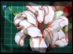 Volume decoupage (3D). Create flowers in Sospeso Transparente technique....