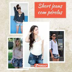 O jeans bordado com pérolas é tendência