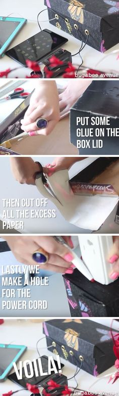 DIY Charging Station | 23 Life Hacks Every Girl Should Know | Easy Organization Ideas for Bedrooms