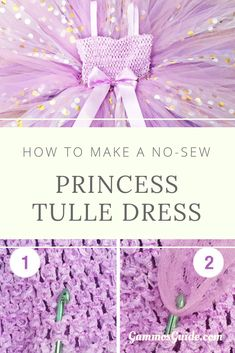 For a princess tulle dress, you need a tutu top, tulle, and ribbon. Get creative and mix up the Diy Princess Costume, Princess Tutu Dresses, Baby Tutu Dresses, Baby Girl Tutu, Tutu Top, Diy Tutu Skirt, Diy Dress, Tulle Dress, Tulle Tutu