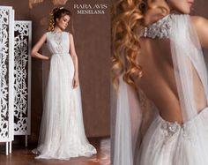 Wedding dress MENELANA beach wedding dress by RaraAvisAngeEtoiles