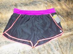 17.00$  Watch now - http://vimvi.justgood.pw/vig/item.php?t=usjnnws21679 - Tek Gear Womens XL Black Pink Running Shorts Built in Briefs Athletic Gym