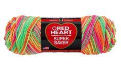 Day Glow Super Saver Economy Yarn   Red Heart