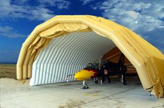 Inflatable / foldable hangar by Lindstrand technologies Temporary Architecture, Solar, Outdoor Gear, Shelters, World, Building, Engineering, Lights, Vehicles