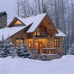 Small Log Homes, Small Log Cabin, Log Cabin Homes, Cozy Cabin, Plan Chalet, Cedar Homes, Timber Homes, Rustic Home Design, Cabin Design