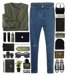 """You think i'm crying on my own, well ain't. // Yoins 18"" by ladyturquoise8 ❤ liked on Polyvore featuring Converse, Byredo, Sandqvist, Smythson, The New Black, MANGO, Stila, Aveda, Acne Studios and MustHave"