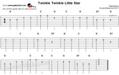 Twinkle Twinkle Little Star - guitar tab