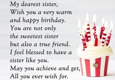 Looking for for ideas for happy birthday friendship?Check this out for unique happy birthday inspiration.May the this special day bring you fun. Happy Birthday Dear Sister, Birthday Messages For Sister, Message For Sister, Funny Happy Birthday Wishes, Sister Birthday Quotes, Sister Quotes, Inspirational Birthday Message, Girl Face, Birthday Ideas