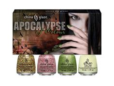 China Glaze 'Apocalypse of Colour' Kit-Rest in Pieces,Don't Let the Dead Bite,But of Corpse,ghoulish glow