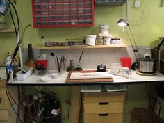 Jewelry Bench - soldering station by JoeSilvera, via Flickr