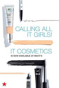 The cutting-edge beauty brand, IT Cosmetics is now available at Macy's. Which means you can score your favorite products like Your Skin But Better CC+, Celebration Foundation and Bye Bye Under Eye just by clicking to shop!