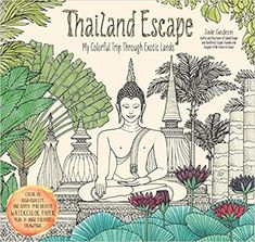 Thailand Escape: My Colorful Trip Through Exotic Lands (Colouring Books) Thailand Travel Tips, Bangkok Travel, Singapore Travel, Asia Travel, Adult Coloring, Coloring Books, Jade, Price Sticker, Koh Tao