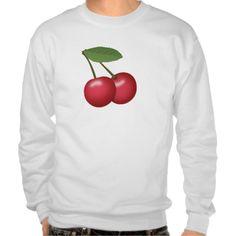 Cherries Emoji Pull Over Sweatshirt