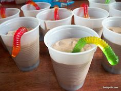 Wiggle worm pudding cups....end of the year party?