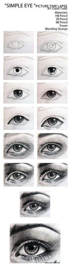 Dazel Todd Sketch of eye tutorial, drawing tips.: