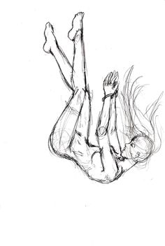ᴴᴰ How To Draw Girl Drowns Falling From The Sky Draw Sketch Di