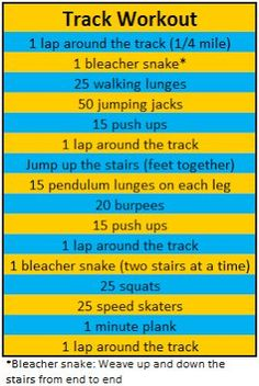 track workout w/bodyweight exercises Bleacher Workout, Stadium Workout, Track Workout, Running Workouts, At Home Workouts, Group Workouts, Speed Workout, Workout Board, Quick Workouts