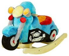 Lil' Biker Motorcycle Rocker. Blue