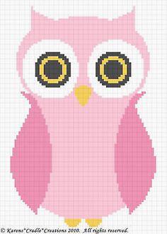 Crochet Patterns - OWL Baby Girl Afghan Pattern *EASY