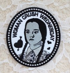 Wednesday Addams WCW Woman Crush Iron-On by FeverDreamBoutique