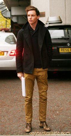 Eddie Redmayne outside the ITV studios, London, England