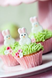 Easter Recipes - Looking for an Easter menu? Pick Easter recipes and create your own menu featuring appetizers, salads, side dishes, main dishes and dessert recipes, and decorating and entertaining ideas for your Easter party. Hoppy Easter, Easter Bunny, Easter Eggs, Easter Food, Bunny Cupcakes, Easter Cupcakes, Mini Cupcakes, Spring Cupcakes, Mocha Cupcakes