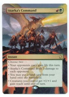 Extended Art Atarkas Command  This will be a sweet...