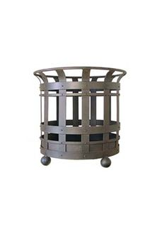 Wrought iron log basket. Great accessory for any fireplace. By Steven Handelman Studios