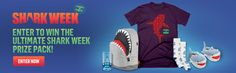 I just entered to win this JAWSOME prize pack from Shark Week!