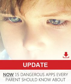 """The 10 most dangerous apps for kids. Apps that permit """"temporary"""" posts and anonymity are very risky."""