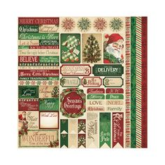 Reminisce - Here Comes Santa Collection - Christmas - 12 x 12 Cardstock Stickers - Variety at Scrapbook.com