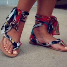 Sandales en tissu