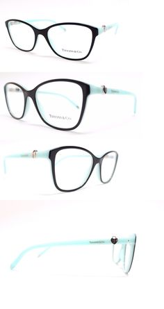 Eyeglass Frames: New Tiffany And Co. Tf2081 - 8055 Size 51 Black And Light Blue Eyeglass Frames -> BUY IT NOW ONLY: $109 on eBay!