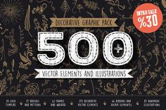 Decorative Graphic Pack by Mockup Zone on Creative Market