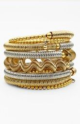 Spring Street Mixed Metal Coil One-Piece Bracelet