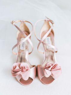 A Rustic Elegant Wedding In Vaughan, Ontario Love the flower details on these wedding heels. Blush Wedding Shoes, Converse Wedding Shoes, Wedge Wedding Shoes, Designer Wedding Shoes, Wedding Heels, Bride Shoes, Ontario, Bridal Heels, Unique Shoes